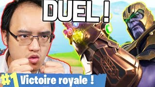DUEL ÉPIQUE CONTRE THANOS (1v1) ! | Fortnite Battle Royale