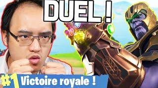 DUEL ÉPIQUE CONTRE THANOS (1v1) ! | Fortnite Battle Royale thumbnail