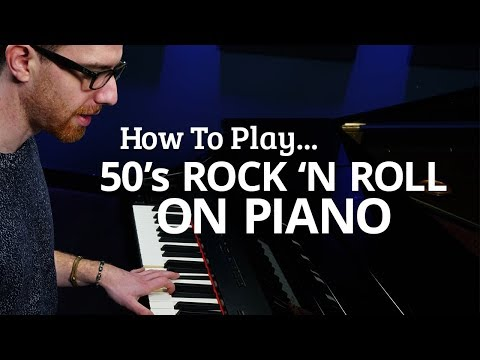 Play Rock 'n Roll Piano Like It's the 50's - Piano Lesson (Pianote)