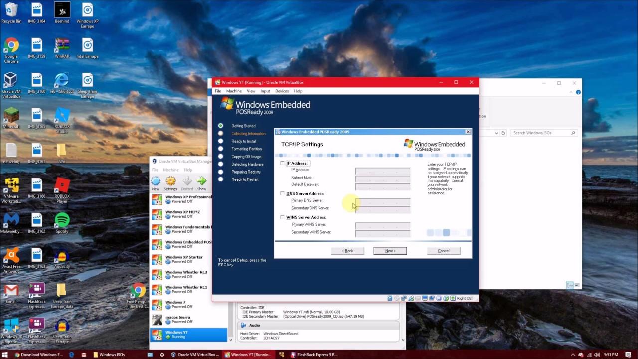 How to Install Windows Embedded POSReady 2009 on Virtualbox