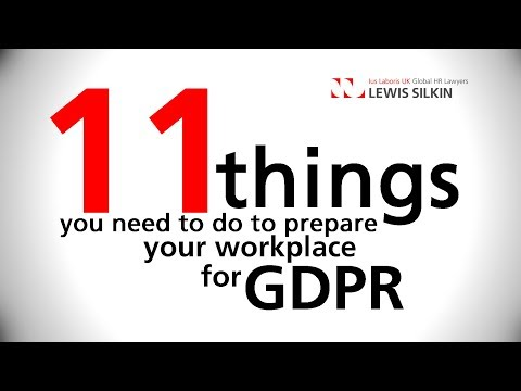 GDPR  - 11 things you need to do in your workplace
