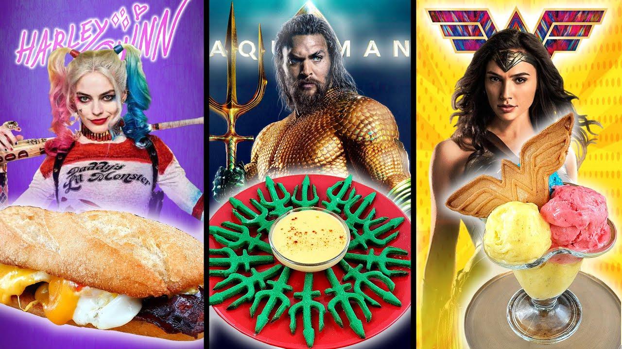 COMIDA de SUPERHÉROES de DC COMICS | Harley Quinn, Aquaman, Wonder Woman!