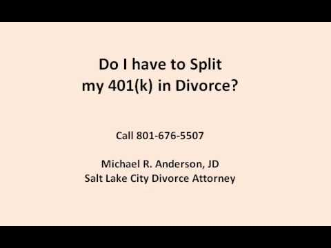 401(k) Division Divorce Attorney Draper Utah 801-676-7308 Divorce & Divorce in UT