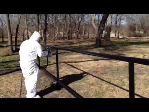 How To Paint Pipe Fence Mikeandmikeremodeling Com Youtube