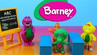 Barney Classroom Playset with Baby Bop Riff & BJ sing-along ABC's Alphabet