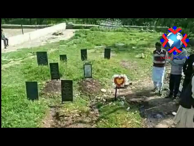 Watch: Pulwama Protests after headstone of Sameer Tiger's grave damaged