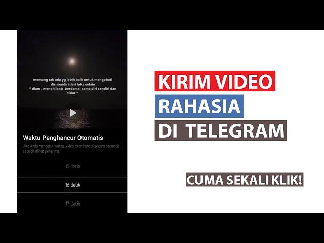 Cara Kirim Video Rahasia di Telegram