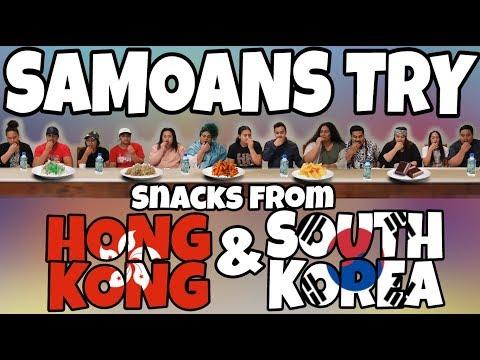 SAMOANS TRY HONG KONG & KOREAN SNACKS