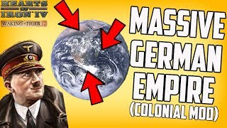 Creating A Massive German Colonial Empire! Hearts of Iron 4 HOI4 Mod Gameplay