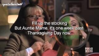We Need A Little Christmas - Glee Cast (Lyrics)