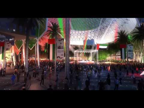Inside Al Wasl Plaza- Dubai Expo 2020