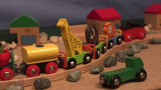 Wood toy train bloopers crashes | Lots of Trains Galore