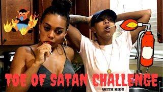 Toe of SATAN Challenge ((WORLDS HOTTEST LOLLIPOP)) *VOMIT ALERT*