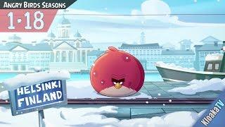 Angry Birds Seasons - Level 1-18 On Finn Ice Walkthrough (3 Stars)