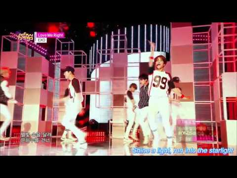 EXO_Love Me Right [live stage mix+engsub]