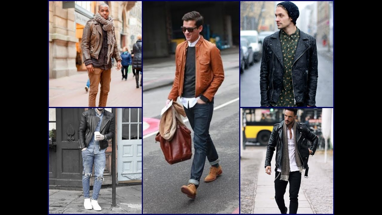 25 Cool Men S Leather Jacket Outfits Men S Fashion Lookbook Youtube