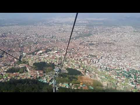 Kota bursa dari atas.  View from cable car part 2
