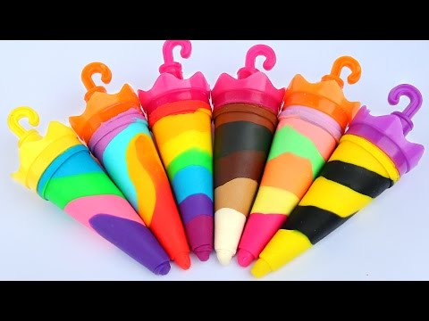 Thumbnail: DIY How To Make Play Doh Ice Cream Popsicles Umbrella Play Doh Learn Colors Mighty Toys
