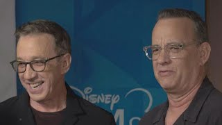 Tom Hanks and Tim Allen Give Gifts to Children's Hospital (Exclusive)