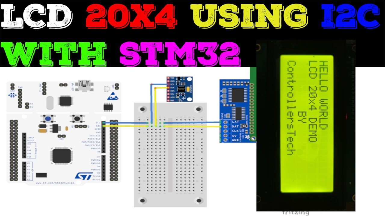 How to interface LCD20x4 with STM32 || I2C || HAL || CubeMx || TrueStudio