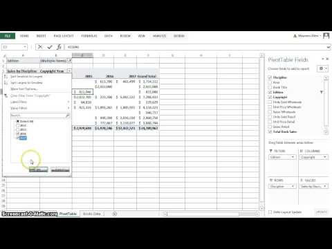 Excel 2013 Chapter 5 Subtotals, PivotTables and PivotCharts - YouTube