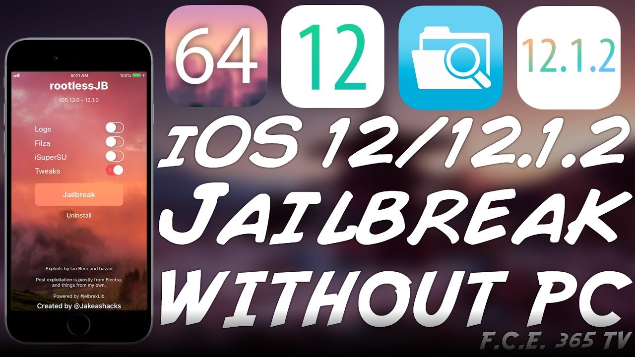 HOW TO JAILBREAK iOS 12 1 2 / 12 0 (NO PC) WITH RootlessJB & Install Filza  by iDevice Central