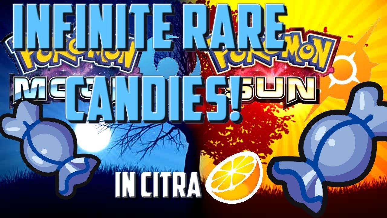 How To Get Infinite Rare Candies In Pokemon Moon (ultra also) (citra/pc)
