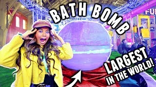 4,400 POUND LUSH BATH BOMB!🏆💦 WORLD'S LARGEST BATH BOMB!