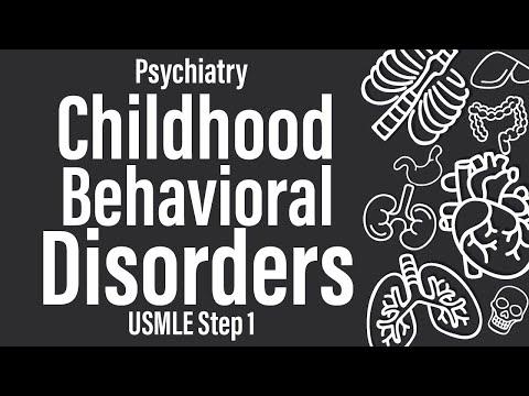 Childhood Behavioral Disorders (Psychiatry) USMLE Step 1