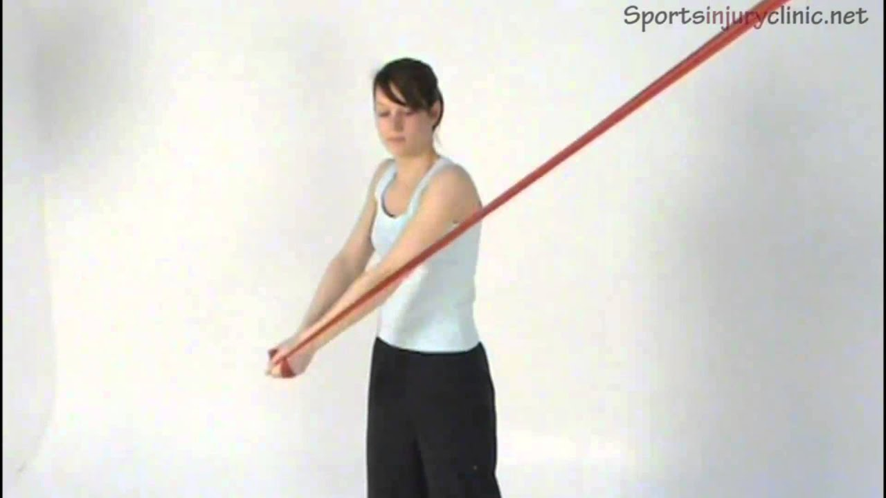 Wood Chop exercise with resistance band - YouTube