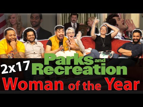 Parks And Recreation - 2x17 Woman Of The Year - Group Reaction