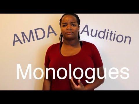 AMDA: Audition Monologues  BlackCircus