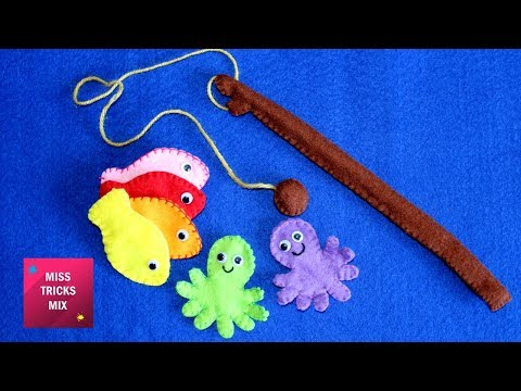 Felt Fishing Game - DIY : How To Make Felt Fishing Game /Summer Crafts.