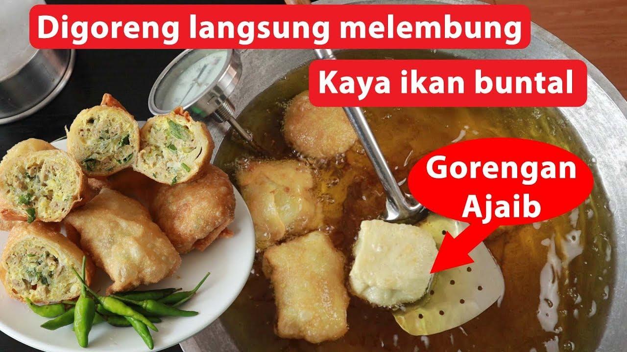 Martabak Usus Unik Sekali Goreng Melembung Bakal Viral Youtube Masakan Simpel Resep Masakan Sehat Ide Makanan