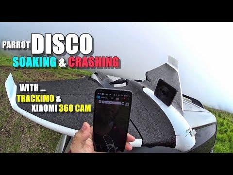 PARROT DISCO Wet Flight Test - Soaking & Crashing with Trackimo & Xiaomi Mijia 360 Cam