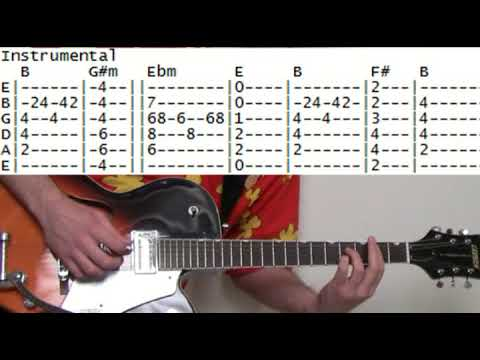 How To Play Drive By The Cars Guitar Lesson Tab & Chords Also By Deftones