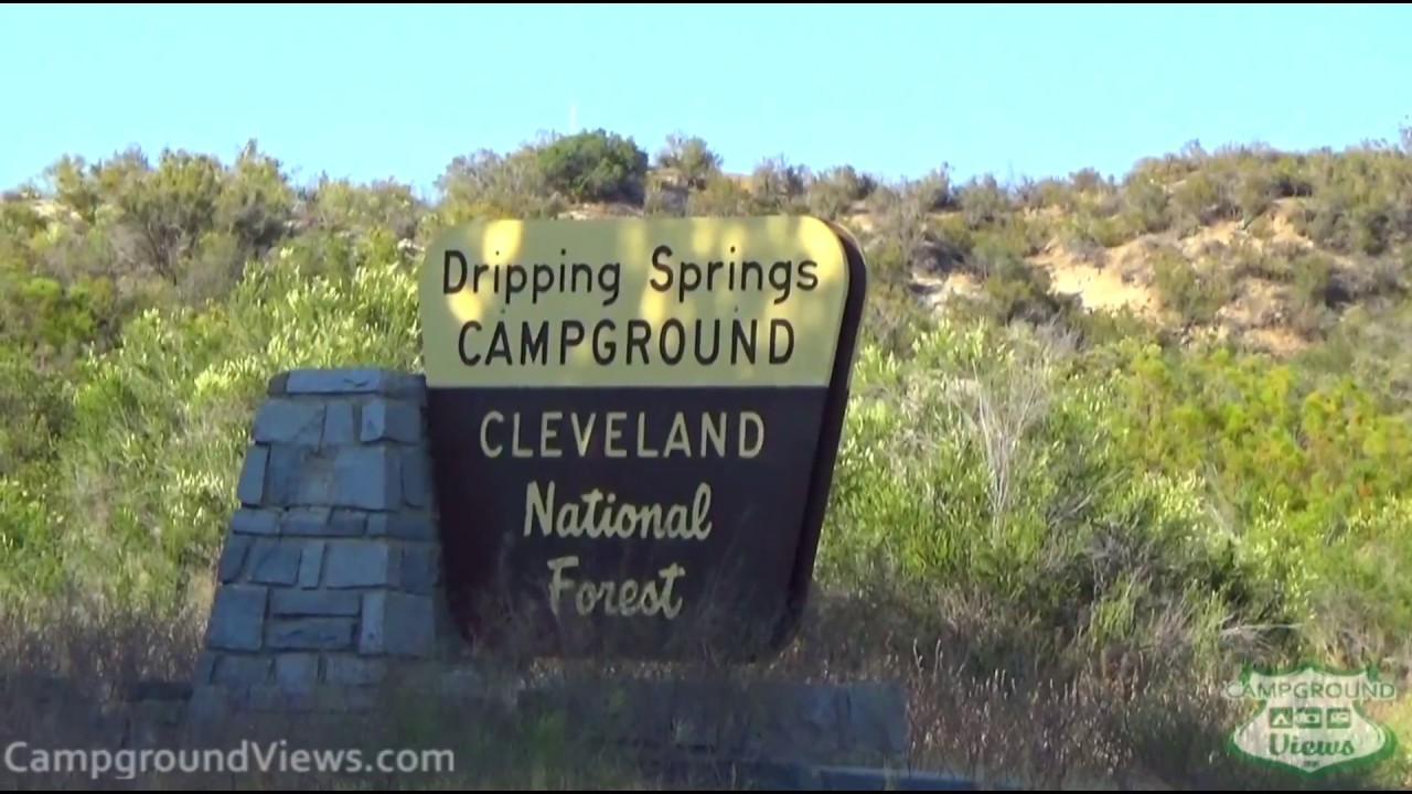 dripping springs campground temecula california ca forest