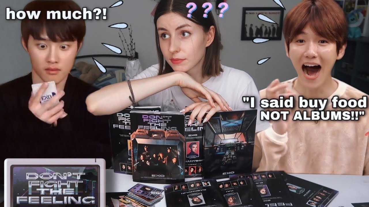 I spent all my money on EXO albums (baekhyun don't watch this)