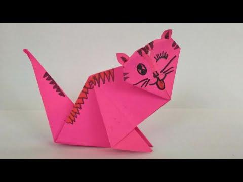 Cute and easy origami cat | Diy paper cat