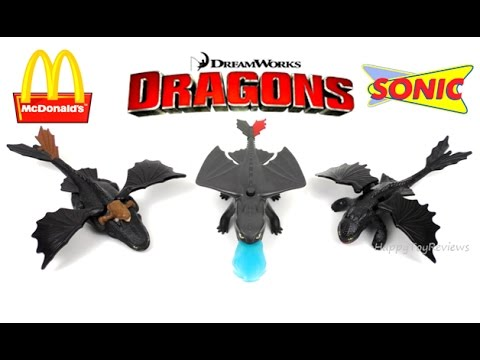 2017 Dreamworks Dragons Mcdonald S Happy Meal Toys How To Train Your Dragon Sonic Kids Meal Sing Us Youtube