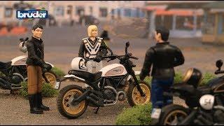 Bruder Toys Ducati Scrambler Cafe Racer & Desert Sled - #63050 + #63051