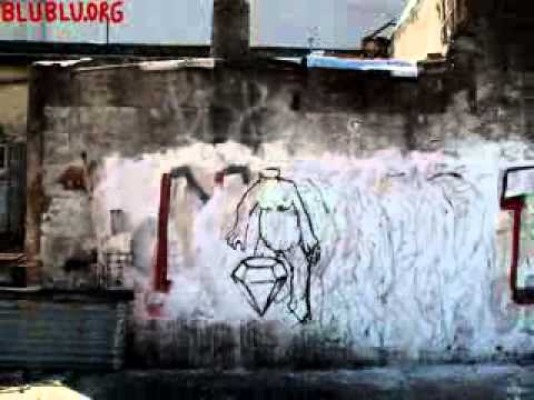mute animated wall by blu