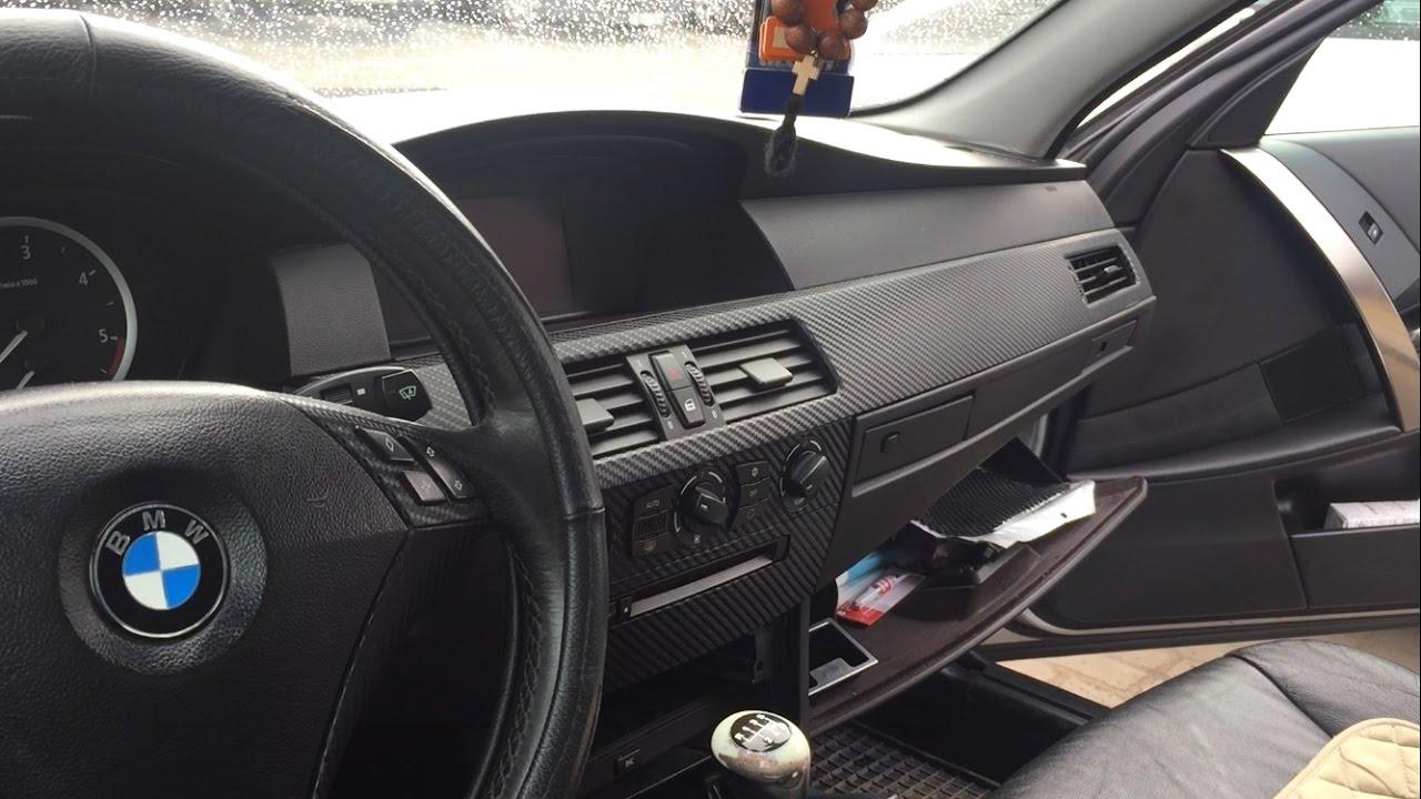"""BMW E60 Снял """"карбон"""" в салоне"""