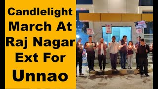 Residents take out candle light vigil in support of Unnao rape victim