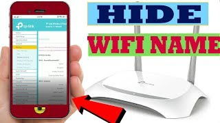 TP-Link   Hide your WiFi Name/Network  Using Mobile
