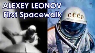 First Spacewalk [real speed, 2 cameras] - Alexey Leonov - VOSKHOD 2 (1965)