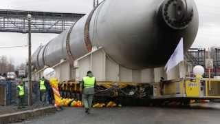 Реактор Гидрокрекинга. Красноярский рекордный груз прибыл к месту назначения.