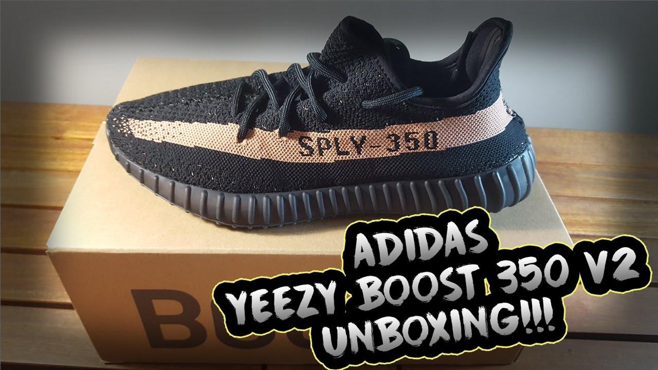 white adidas logo yeezy boost 350 v2 on feet copper