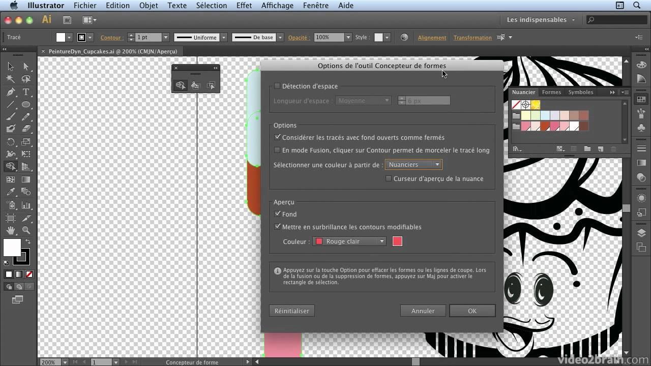 Illustrator Cs6 Outils Concepteur De Forme Et Pot De Peinture
