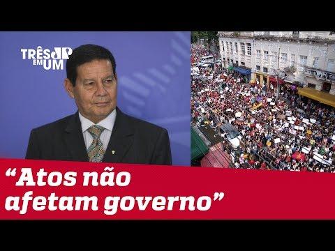 Hamilton Mourão diz manifestações não desestabilizam governo